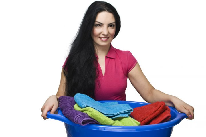 Wäsche trocknen im Keller
