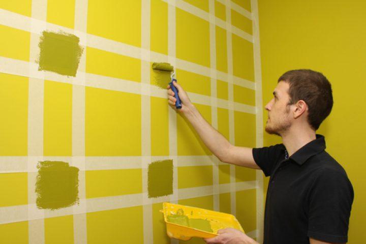 Wandgestaltung Selber Machen Mit Farben Muster Streichen 7