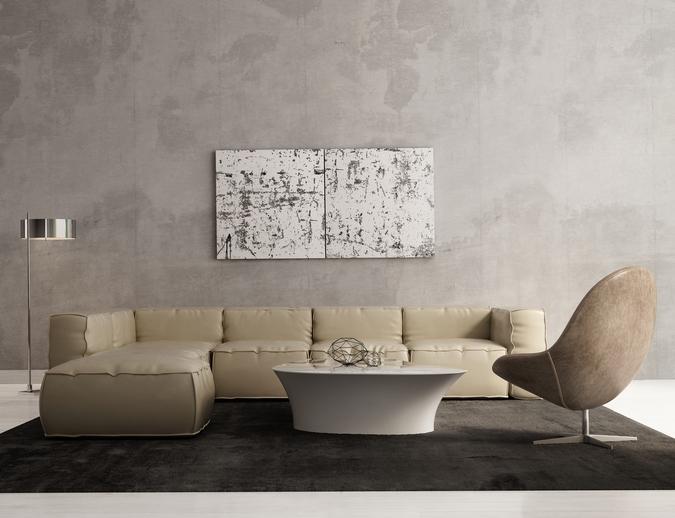 Wandfarbe mit betonoptik auftragen anleitung in 5 schritten - Wandfarbe betonoptik ...