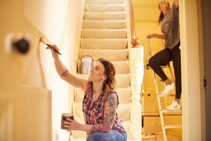 wandfarbe f rs treppenhaus welche eignet sich am besten. Black Bedroom Furniture Sets. Home Design Ideas