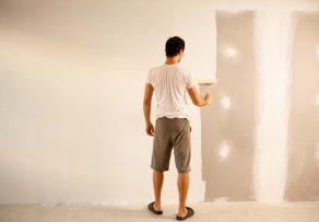 wandfarbe auf putz streichen anleitung in 4 schritten. Black Bedroom Furniture Sets. Home Design Ideas