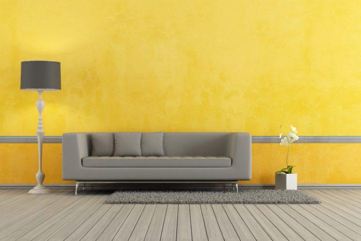 Wand streichen graue Möbel