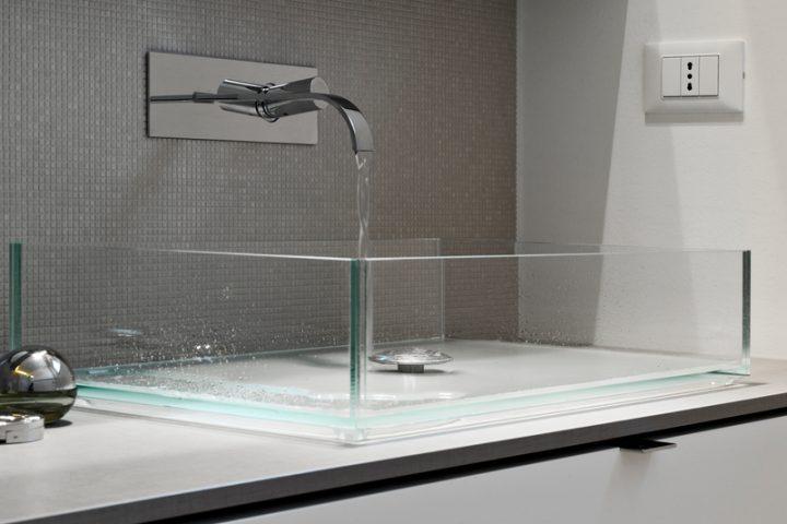 Waschbecken Glas