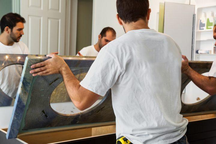 Waschbecken umsetzen