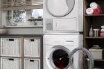 Waschmaschine auf Trockner
