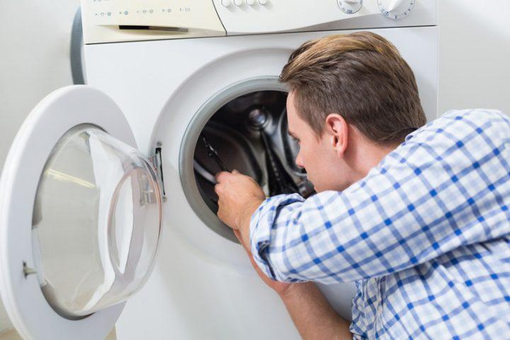 Waschmaschine läuft aus