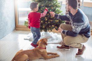 Weihnachtsbaumständer verkleiden