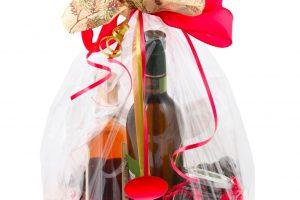 Weinflasche einpacken Folie