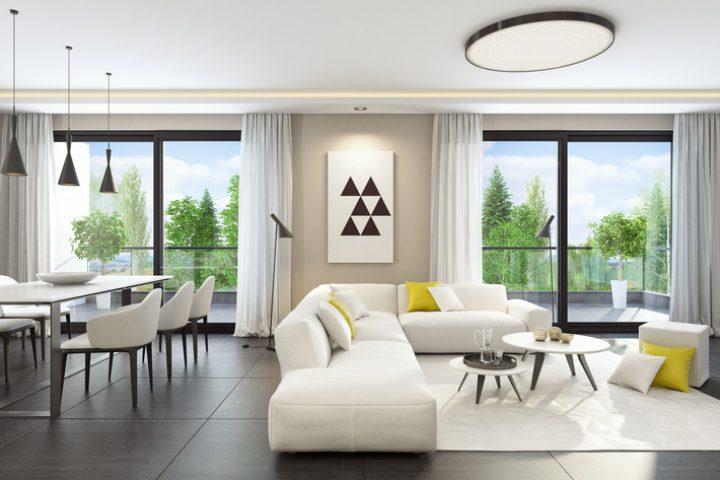 Weiße Möbel kombinieren