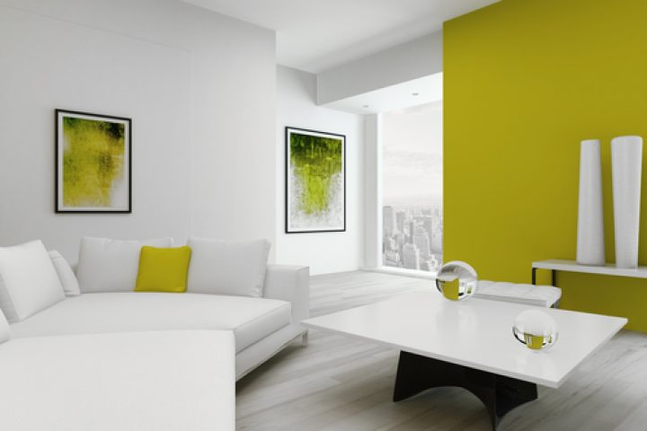 Zimmerwand farbig streichen