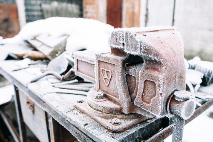 Werkstatt im Winter