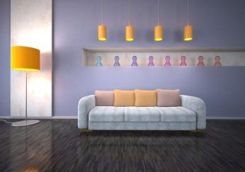 ideen zum wohnzimmer streichen 5 kreative beispiele. Black Bedroom Furniture Sets. Home Design Ideas