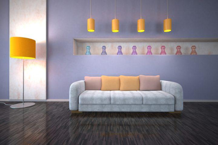 ideen zum wohnzimmer streichen » 5 kreative beispiele, Wohnzimmer