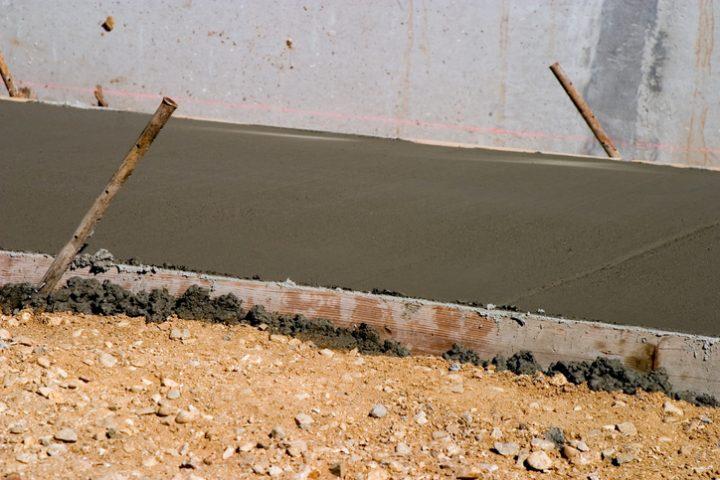 Zement trocknen