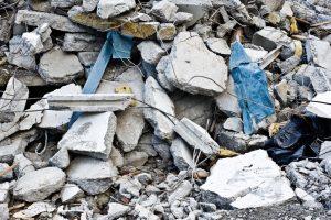 Zement Abfall