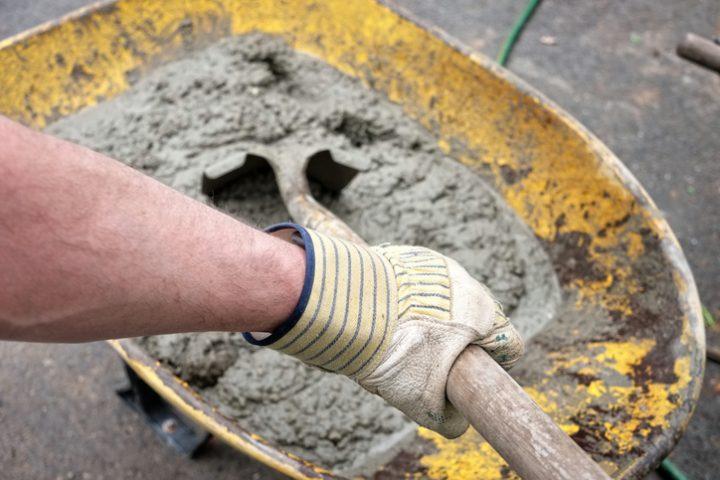 Zement anmischen