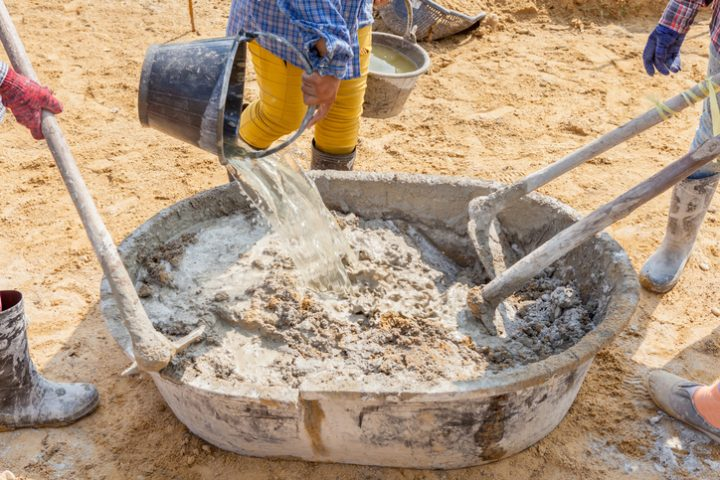 Zement selber anrühren