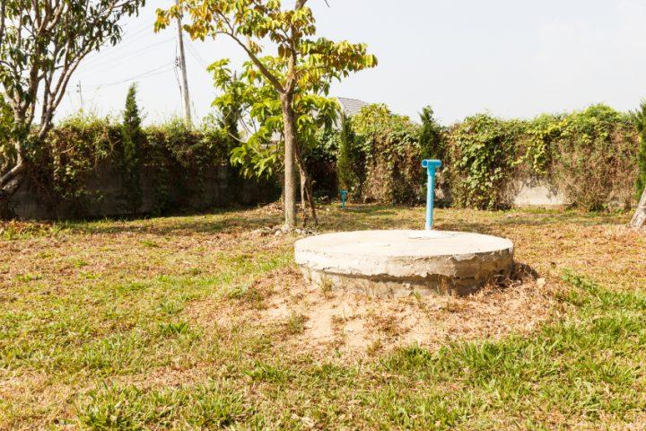 Zisterne oder Brunnen