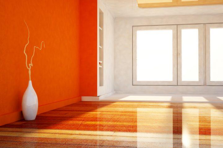 Zwei Wände farbig streichen