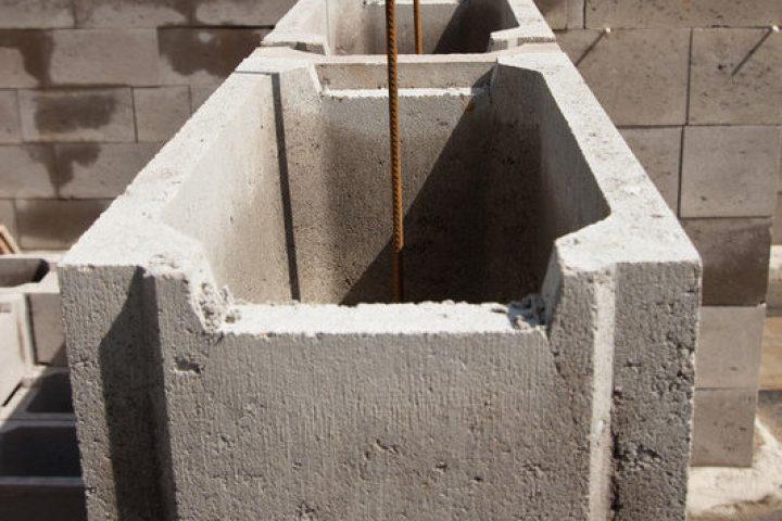 Maße für Betonschalsteine