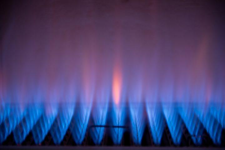 Gasheizung f