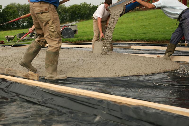 terrasse betonieren anleitung   schritten