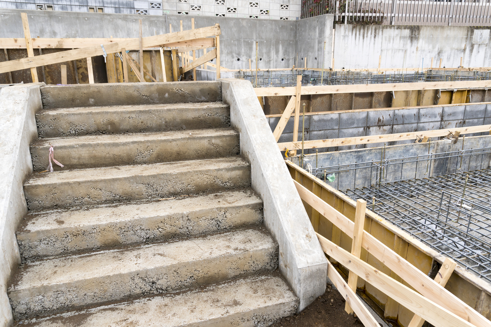 fundament f r eine treppe so wird es gelegt. Black Bedroom Furniture Sets. Home Design Ideas