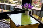 Glasplatte auf Holz kleben