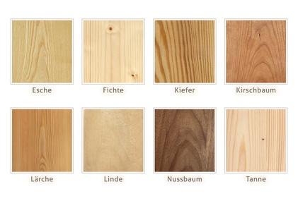 Verschiedene Holzarten weisen ganz unterschiedliche Farben und Maserungen auf. © sunnychicka - Fotolia.com