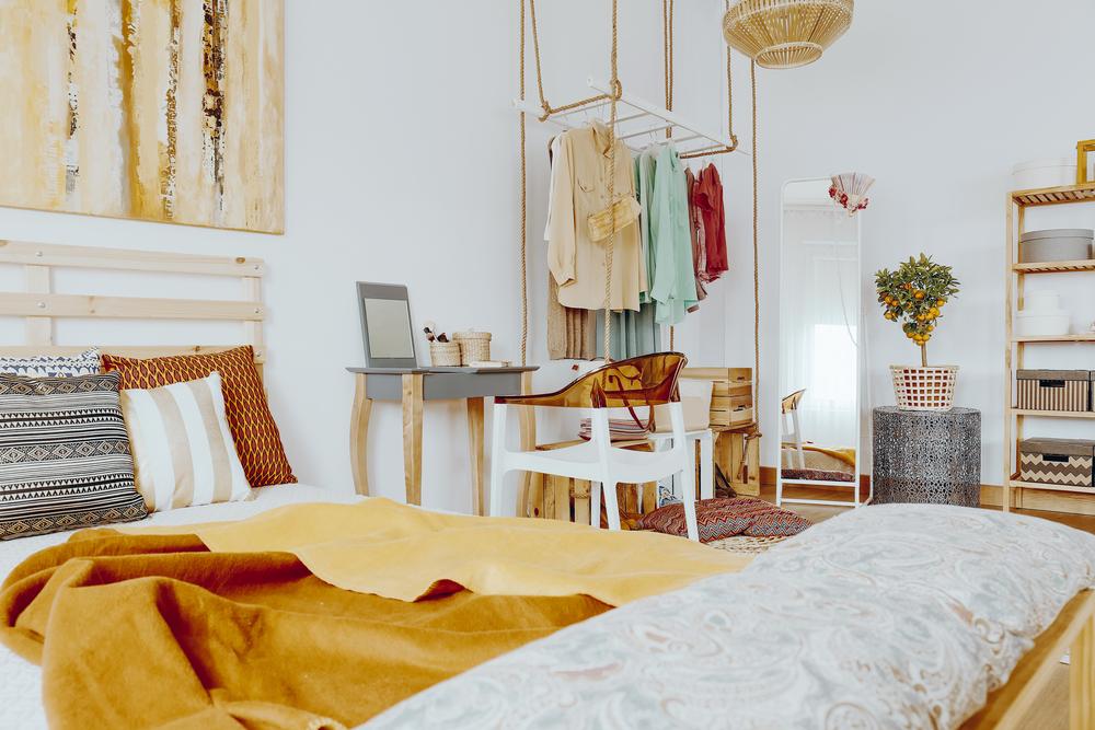 Holzleiter-Garderobe » So bauen Sie sie selbst