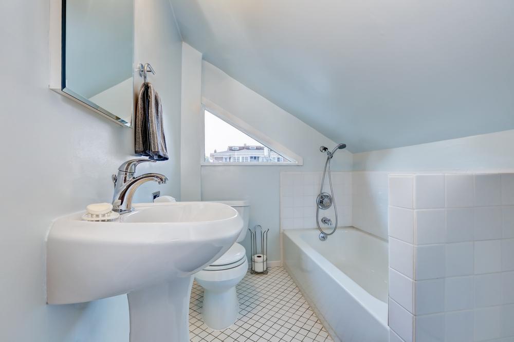 Kleines Schmales Bad Unter Dachschrage Einrichten Tipps