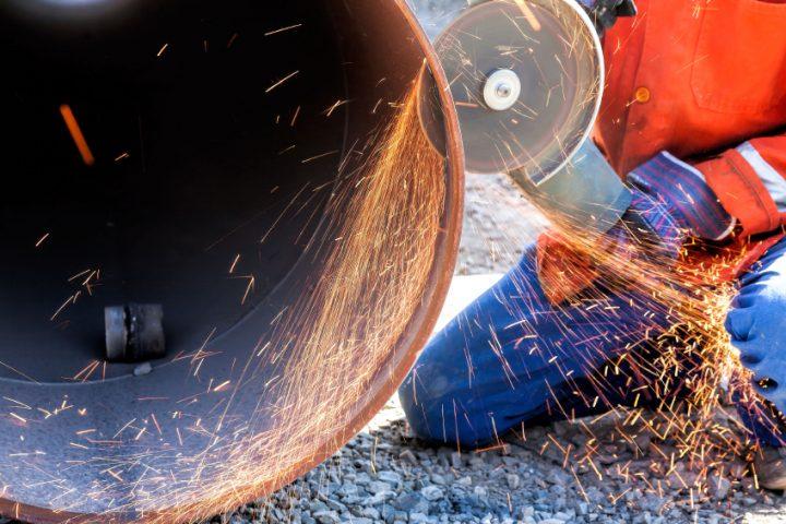 Stahlrohr sägen